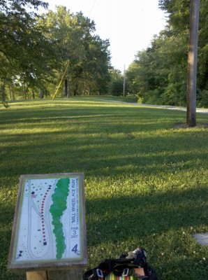 Charles Mill Lake, Main course, Hole 4 Long tee pad