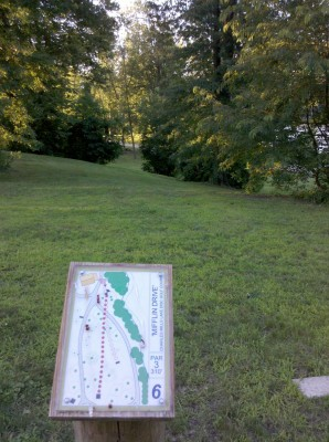 Charles Mill Lake, Main course, Hole 6 Long tee pad