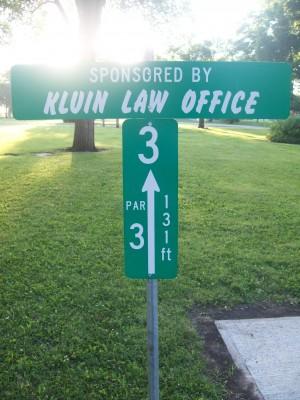 Highland Park, Main course, Hole 3 Hole sign