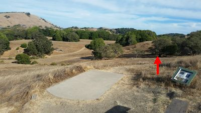 Stafford Lake County Park, Main course, Hole 3 Long tee pad