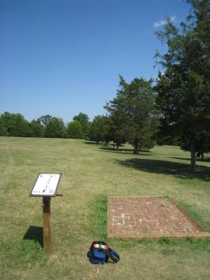 Falling Creek Park, Main course, Hole 5 Tee pad