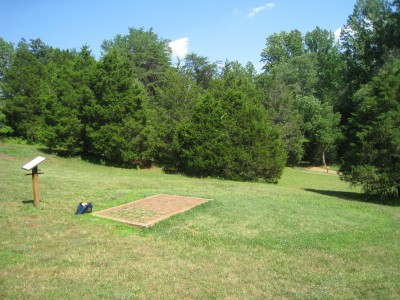 Falling Creek Park, Main course, Hole 8 Tee pad