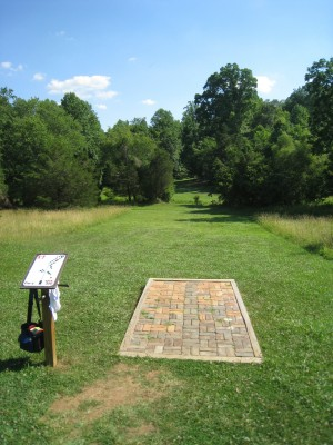 Falling Creek Park, Main course, Hole 17 Tee pad