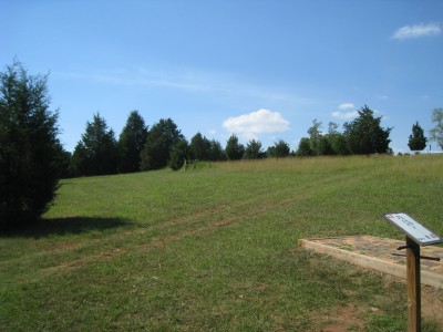 Falling Creek Park, Main course, Hole 12 Tee pad