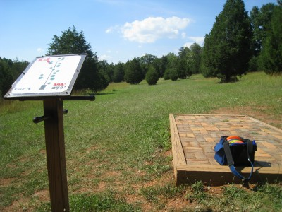 Falling Creek Park, Main course, Hole 14 Tee pad