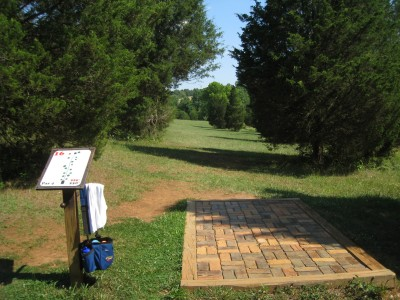 Falling Creek Park, Main course, Hole 16 Tee pad