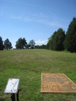 Falling Creek Park, Main course, Hole 18 Tee pad