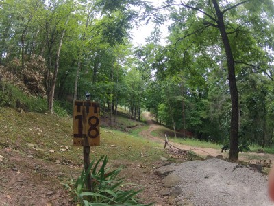 The Timberdoodle Thicket, Main course, Hole 18 Tee pad