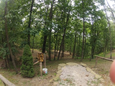 The Timberdoodle Thicket, Main course, Hole 17 Tee pad