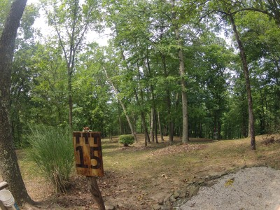 The Timberdoodle Thicket, Main course, Hole 15 Tee pad