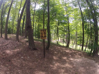 The Timberdoodle Thicket, Main course, Hole 11 Tee pad