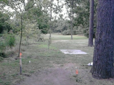Angelica Park, Main course, Hole 9 Tee pad