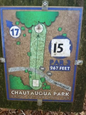 Chautauqua Park, Main course, Hole 16 Hole sign