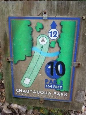 Chautauqua Park, Main course, Hole 11 Hole sign