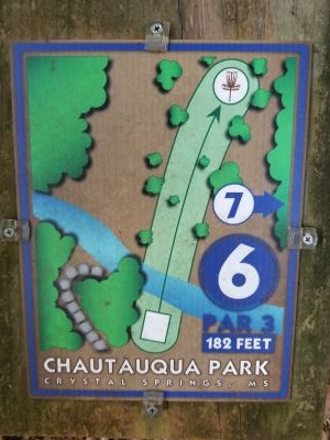 Chautauqua Park, Main course, Hole 6 Hole sign