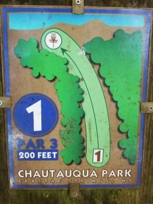 Chautauqua Park, Main course, Hole 1 Hole sign