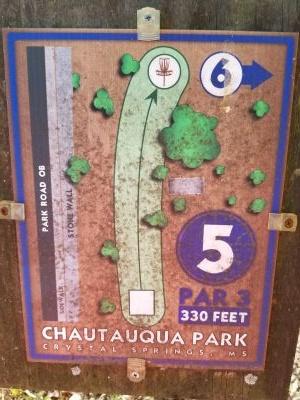 Chautauqua Park, Main course, Hole 5 Hole sign