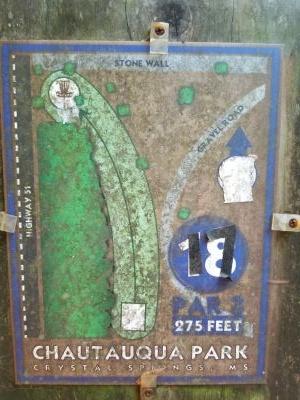 Chautauqua Park, Main course, Hole 18 Hole sign