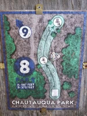 Chautauqua Park, Main course, Hole 8 Hole sign