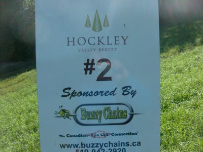 Hockley Valley Resort, Main course, Hole 2 Hole sign