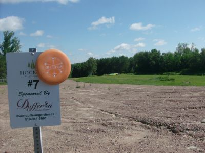 Hockley Valley Resort, Main course, Hole 7 Hole sign