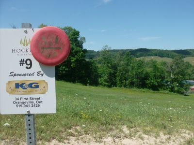 Hockley Valley Resort, Main course, Hole 9 Hole sign