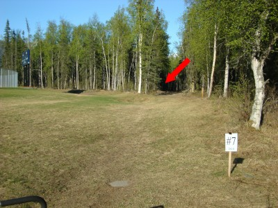 Eagle River High School, Main course, Hole 7 Tee pad