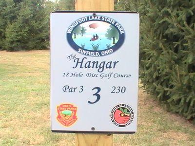 Wingfoot Lake State Park, Main course, Hole 3 Hole sign