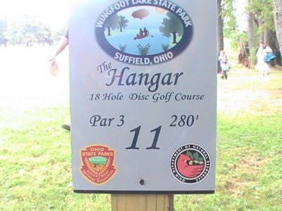 Wingfoot Lake State Park, Main course, Hole 11 Hole sign