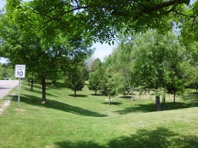 Wingfoot Lake State Park, Main course, Hole 3 Long tee pad