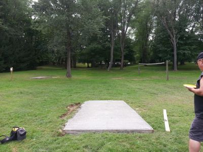 Wingfoot Lake State Park, Main course, Hole 18 Long tee pad