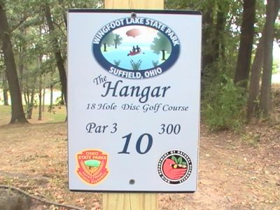 Wingfoot Lake State Park, Main course, Hole 10 Hole sign