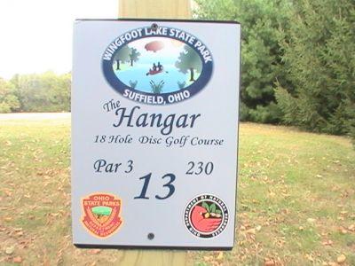 Wingfoot Lake State Park, Main course, Hole 13 Hole sign