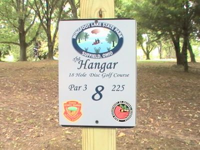 Wingfoot Lake State Park, Main course, Hole 8 Hole sign