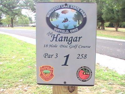 Wingfoot Lake State Park, Main course, Hole 1 Hole sign