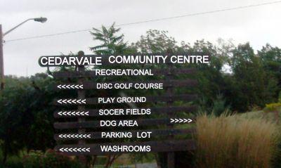 Cedarvale Park, Main course, Hole 9 Hole sign