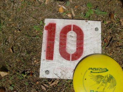 Birch Point Park, Main course, Hole 10 Hole sign
