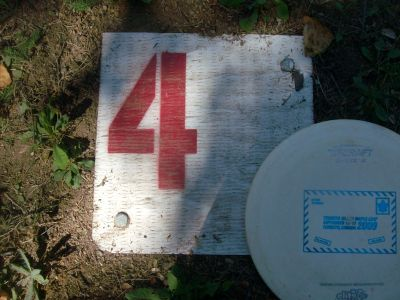 Birch Point Park, Main course, Hole 4 Hole sign