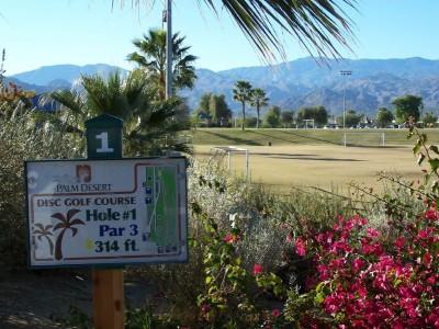 Palm Desert DGC, Main course, Hole 1 Hole sign