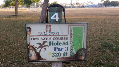 Palm Desert DGC, Main course, Hole 4 Hole sign