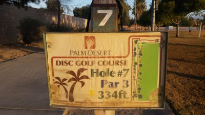 Palm Desert DGC, Main course, Hole 7 Hole sign