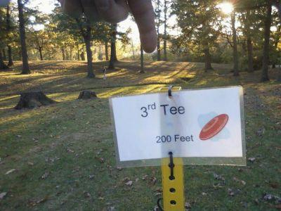 Veterans Park, Main course, Hole 3 Tee pad