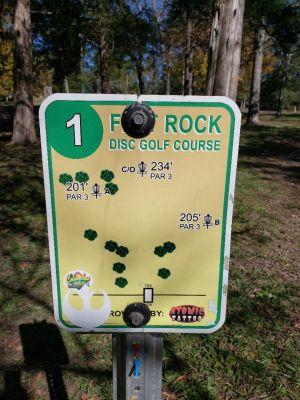 Flatrock Park, Main course, Hole 1
