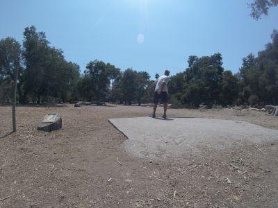 Oak Grove (Hahamongna Park), Main course, Hole 19 Tee pad