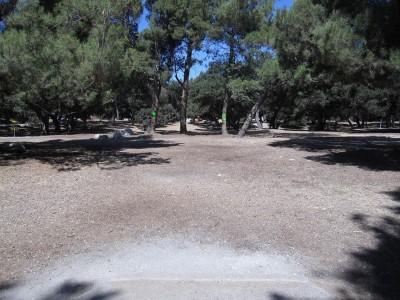 Oak Grove (Hahamongna Park), Main course, Hole 17 Tee pad