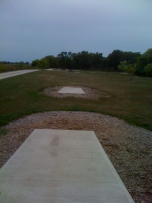 Lower Cato Falls County Park, Main course, Hole 7 Long tee pad