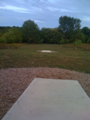 Lower Cato Falls County Park, Main course, Hole 10 Long tee pad