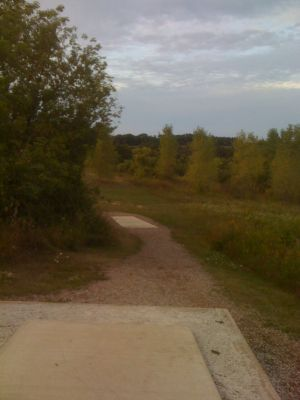 Lower Cato Falls County Park, Main course, Hole 6 Long tee pad