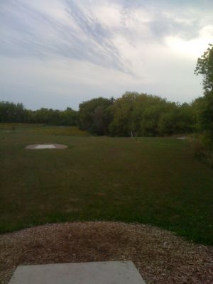 Lower Cato Falls County Park, Main course, Hole 2 Long tee pad
