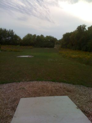 Lower Cato Falls County Park, Main course, Hole 3 Long tee pad